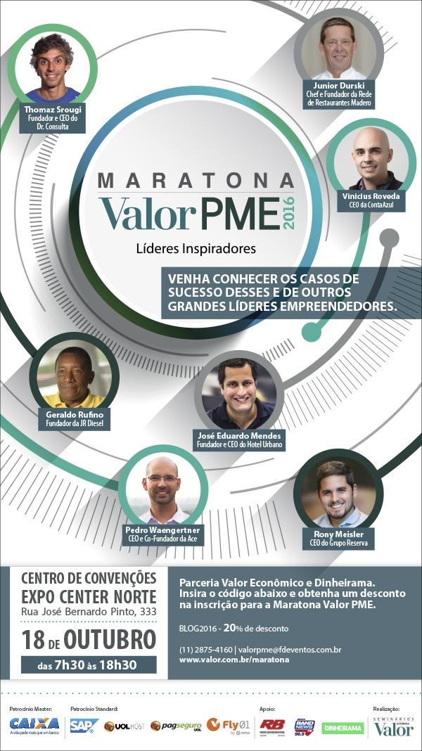 Participe da quinta edição da Maratona Valor PME
