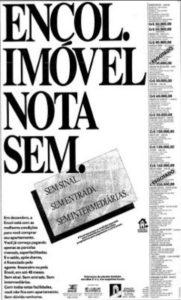 Anúncio da Encol no Estado de SP em dezembro de 1990