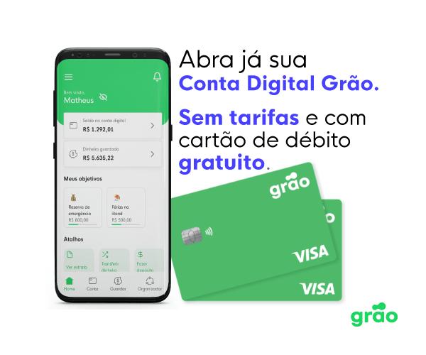 Grão seu aplicativo para guardar dinheiro
